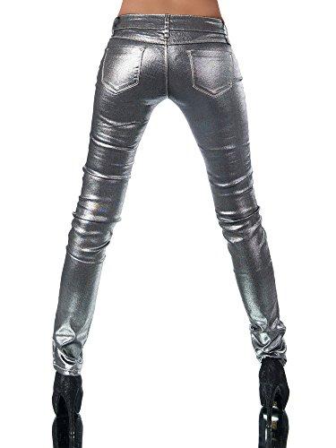 Jeans Skinny Femme Silber Uni Diva Jeans gqZw8BB