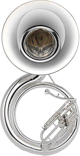Jupiter Deluxe Silver BBb Sousaphone, JSP1100S