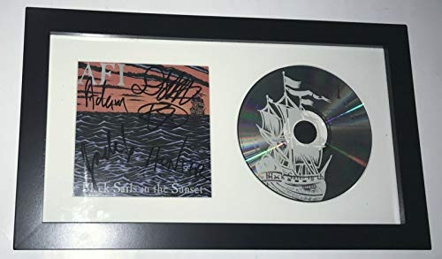 A.F.I. AFI Black Sails in the Sunset REAL hand SIGNED Framed CD Display COA