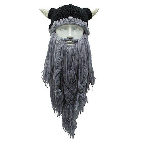 YAKEF - Gorro de punto - para hombre Lgrey Beard