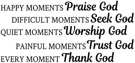 happy moments wall sticker praise god decal christian quote wall