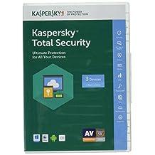 Kaspersky Lab 2017 Total Security 5 Device/1 Year (Key Card) Periodo de licenciamiento: 1 año(s)