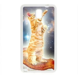 Cartoon White Cute Cat Kitten Phone Case for samsung Galaxy Note3