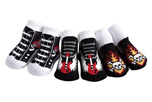 JazzyToes Rock'n Sox Gift Box of Baby Socks (0-12 Months) -