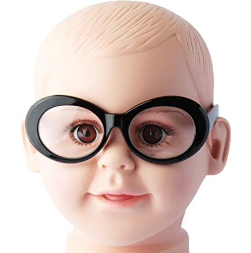 Kd215 baby Toddlers infant (0~36 months old) Round/Oval clear Lens Costume Glasses kids Sunglasses (Oval Black, Clear) -