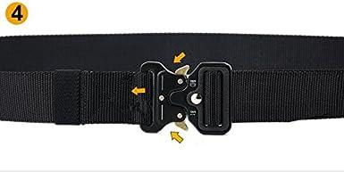 SHU QI Mens tactical army fan tactical multi-function nylon outdoor training belt
