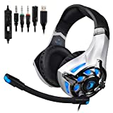 SADES Wired Stereo Gaming Headset Over-Ear Headphones...
