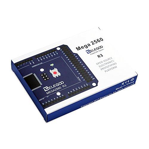 Elegoo EL-CB-003 MEGA 2560 R3 Board ATmega2560 ATMEGA16U2 + USB Cable for Arduino by ELEGOO (Image #6)