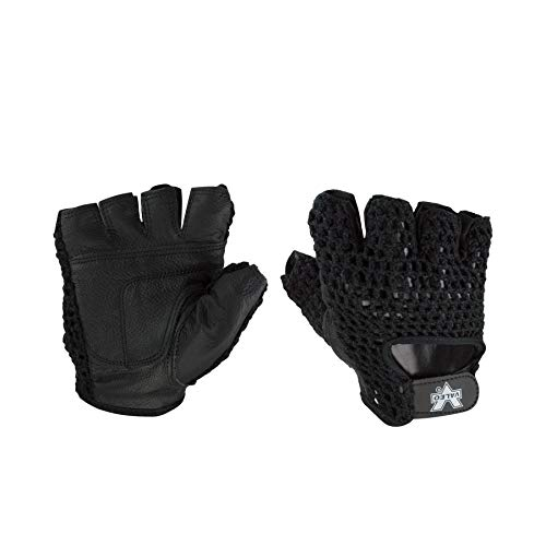 - Valeo GMLS Meshback Lifting Gloves with Genuine Leather Padded Palms, Cotton Mesh Backs, and Soft Terry Lining, X-Large