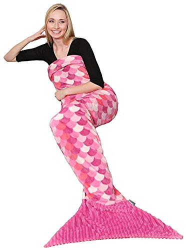 Kanguru Polyester Mermaid Tail Blanket for Adult- Living Room Sleeping Blankets-Super Warm and Soft for All Seasons -Fun Gift for Women