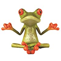 TOOGOO Funny 3D Frog Peep Car Stickers Truck Window Decal Graphics Sticker Meditating Frogs