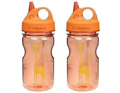 Nalgene Grip 'n Gulp Giraffe Bottle, Orange Parent - Nalgene Grip N-gulp