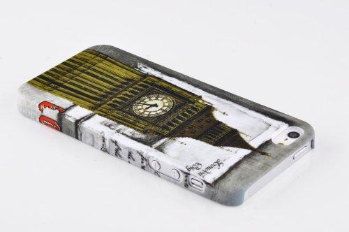Cadorabo - Hard Cover Protección para Apple iPhone 5 / 5G / 5S - Case Cover Funda Protectora Carcasa Dura Hard Case en Diseño TIGRE MARRÓN LONDRES BIG BEN
