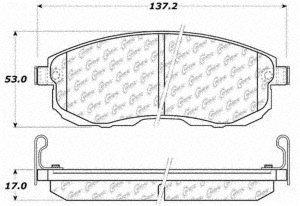 Centric Brake Pad Set - Centric (103.08150) Brake Pad, Ceramic