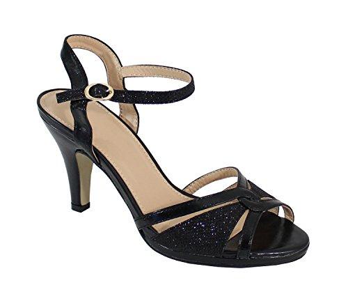 Noir Aiguille Escarpin Shoes à Paillettes By Talon Femme 5t0BwqqZ1
