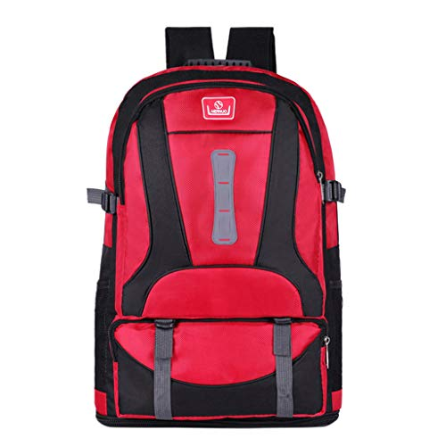 Waterproof Large Capacity Backpack,YuhooSUN Outdoor Bag Multi-Function Travel Backpack Fishing,Hiking,Camping,Traveling Red