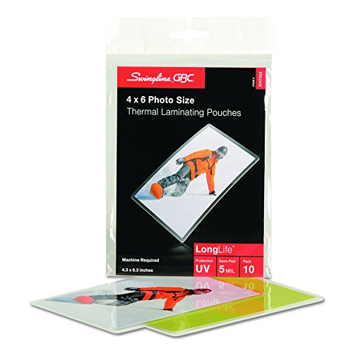 - Swingline GBC Laminating Sheets, Thermal Laminating Pouches, 4