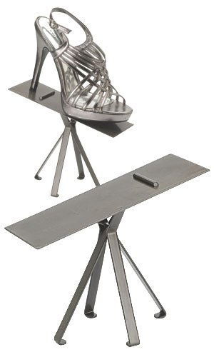 """Shoe Display Stand - 6'' - Raw Steel,• 6"""" High Stand • Polished Raw Steel Finish • Stands Sold Individually,step It up with Our Custom Designed Shoe Displays! The Raw Steel Finished Stands Come in 6"""" or 8"""" Heights. Pair up with Two Matching Sta by Sprinkles Gifts"""