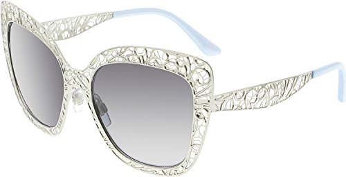 Dolce & Gabbana Women's Metal Woman Square Sunglasses, Silver, 56 - And Lace Gabbana Eyewear Dolce