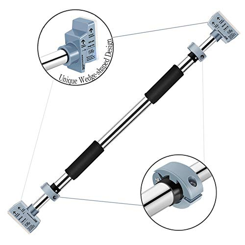 Pull Up Bar, Door Exercise Bar Without Screw Installation, Doorway Pull up Bar with Locking Mechanism, Workout Bar with 29.15