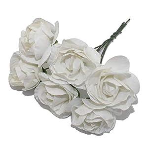 zeoqo 6PCS 3cm Head Multicolor Artificial Paper Flowers Rose Used for Decorative Gift,NO 1 9