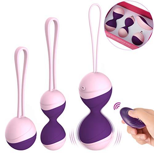 UTIMI Remote Vibrator Love Egg Clitoris Stimulator Kegel Balls for Tightening 3 in 1 kit Vaginial Tightener Silicone Exerciser Bladder Control Devices for Women