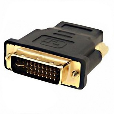 Gold Plated DVI-I Dual-Link 24+5 Male to HDMI Female Adapter