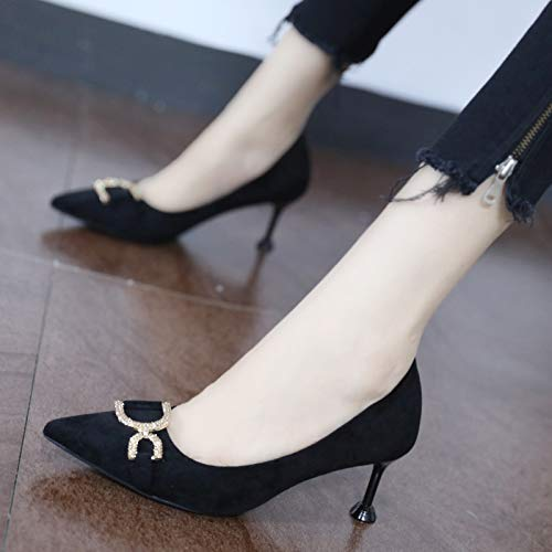 High Stiletto White Super Summer Silver 10Cm Nightclub 38 Pointed Light Yukun High Heels Single heels Black Gold Ladies Shoes dcqTwczWC