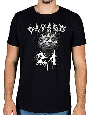LesGo-Tshirt Custom Inspired Tees 21 Savage 666 Head Graphic T-Shirt