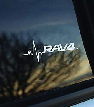 Toyota Rav4 is in my Blood window sticker decals graphic