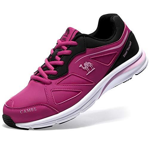 Running Deportivos Deporte Correr Entrenamiento Zapatillas Sneakers Roja Mujer Rosa Cuero CAMEL CROWN nwE8ZaaxS