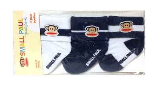 Paul Frank Babies - Paul Frank Julius Baby Booties Socks, Set of 3 Pairs, Navy/White
