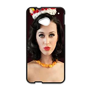 Cute TPU Singer Katy Perry HTC One M7 Cell Phone Case Black