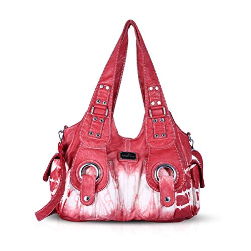 slouch Women multiple Hobo amp; handbags purses pockets bags Casual NICOLE DORIS Red bags Totes XqzwRPXE