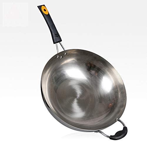 Energia Vaschetta Non Rivestito, Elettromagnetico Forno A Suola Doppia Padella, Wok 32 Centimetri,32cm