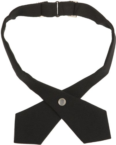 French Toast Adjustable Solid Color Cross Tie Girls Black One Size (School Uniform Ties Girls compare prices)