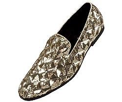 Metallic Diamond Pattern Sequins Slip on