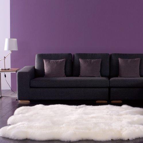 WaySoft (TM) Eco-Friendly Ivory New Zealand/Australia Sheepskin Rug-Genuine Wool; 6ft x 7ft