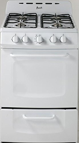 "Price comparison product image Avanti GR024POW 24"" Freestanding Gas Range Cooktop, White"
