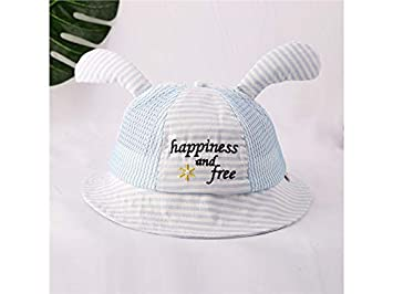 40fd7bd16c2 Baby Headwear Baby Ear Stripe Sun Protection Hat Bucket Cap Toddler  Breathable Packable Soft Mesh Cap