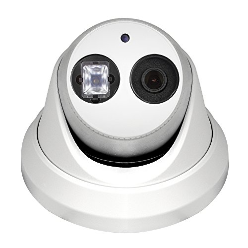 R-Tech 2MP (1080P) HD TVI Outdoor Turret Dome Security Camera with Matrix IR Night Vision – 2.8mm Fixed Lens – White