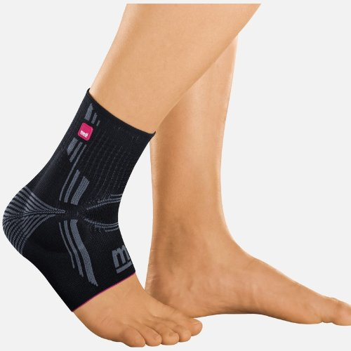 Levamed® ANKLE SUPPORT WITH SILICONE INSERTS, Black, III