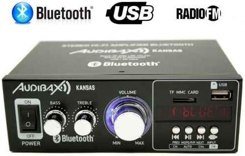 Audibax KANSAS Amplificador HiFi con Bluetooth / MP3 / FM 2 x 40W ...
