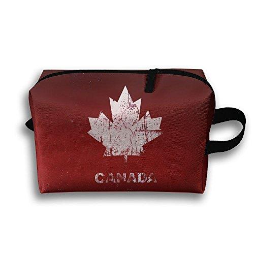Handbag Bowler Small (Louis Woodrow Canada Flag Storage Bag,Cosmetic Bags,Sewing Kit,Emergency Preparedness Kit,Outdoor Travel First Aid Kit Pack Organizer Bag,Travel Makeup)