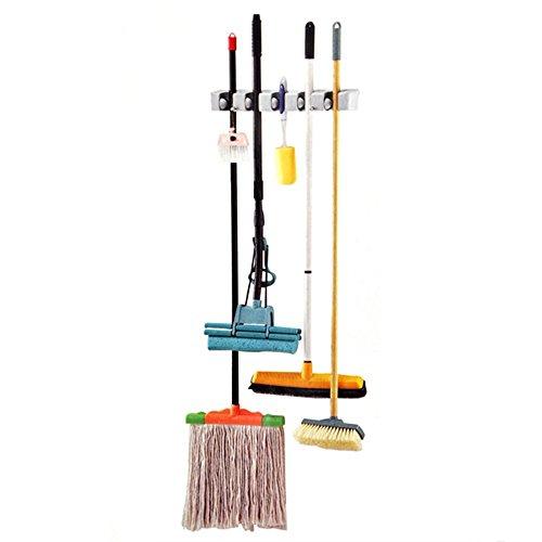 TRIXES Reggi scope mazze da golf spazzole mop lavapavimenti a parete Rastrelliera per attrezzi da giardino