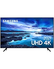 "Samsung Smart TV 50"" UHD 4K 50AU7700, Processador Crystal 4K, Tela sem limites, Visual Livre de Cabos, Alexa built in, Controle Único"