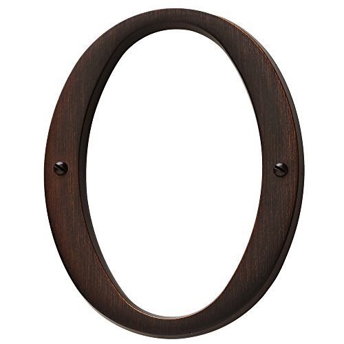 (Baldwin Estate 90670.112.CD Solid Brass Traditional House Number Zero in Venetian Bronze, 4.75
