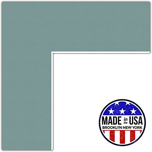 10x12 Splash / Nile Green Custom Mat for Picture Frame with 6x8 opening size (Mat Only, Frame NOT Included)