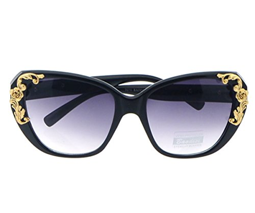 Heartisan Retro Little Flowers Frame Baroque Style Sunglasses for Womens - India Depp Johnny Glasses