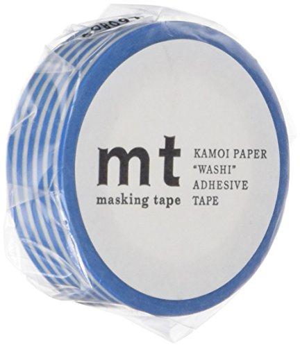 MT Washi Masking Tape, 1P DECO, 15mm x 10m, Border Sky Blue (MT01D255)